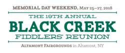 Black Creek Fiddlers Reunion event on May 25-27th, 2018 at the Altamont Fairgrounds